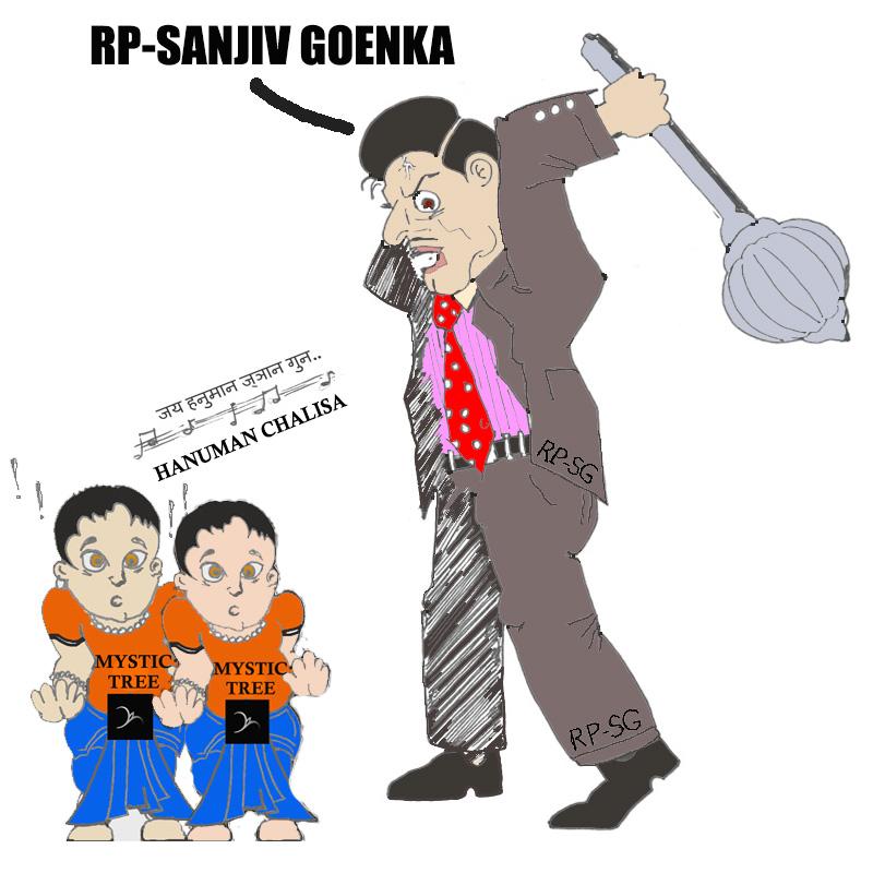 RPSG beating Devotees singing Hanuman Chalisa cartoon